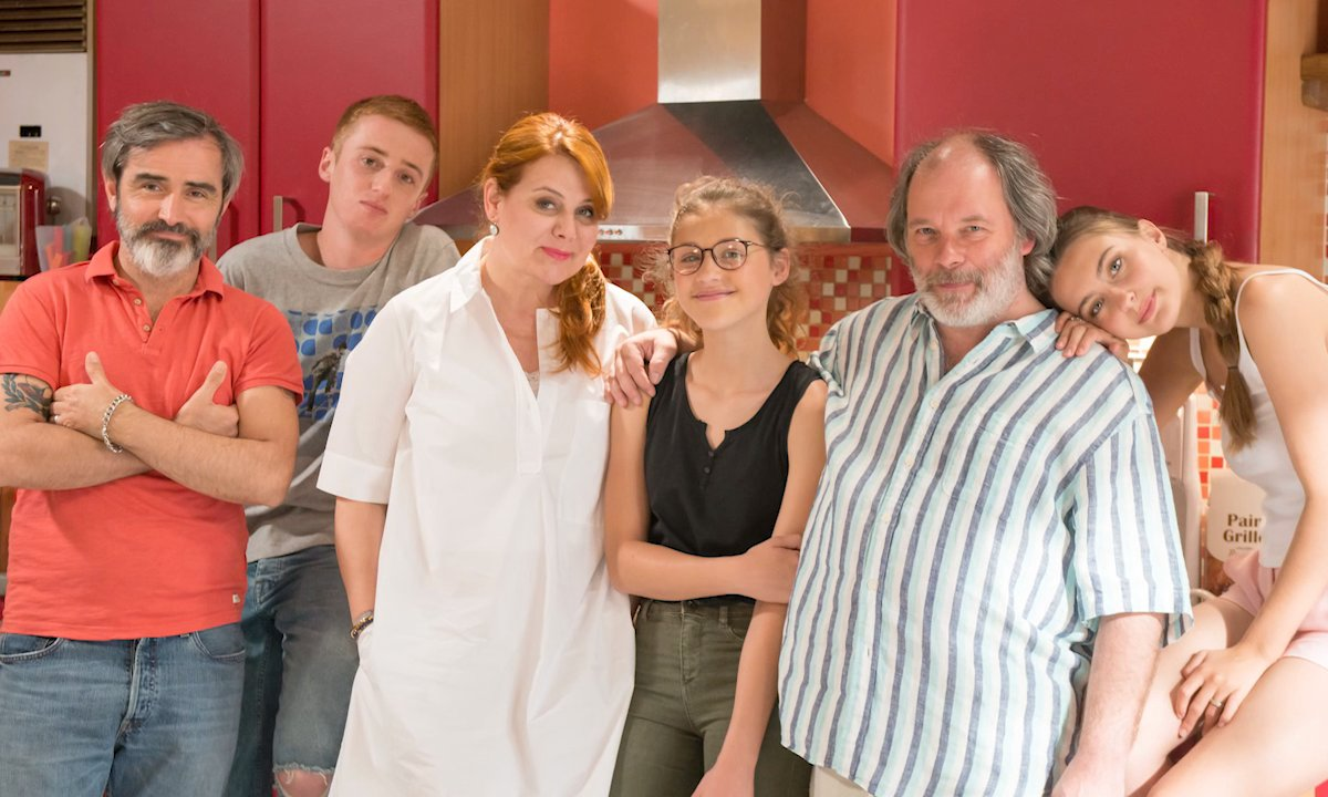 La famille Moreno : Roch, Sylvain, Christelle, Betty, Jessica et Dylan