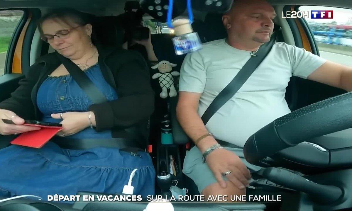 Départ en vacances : sur la route avec une famille