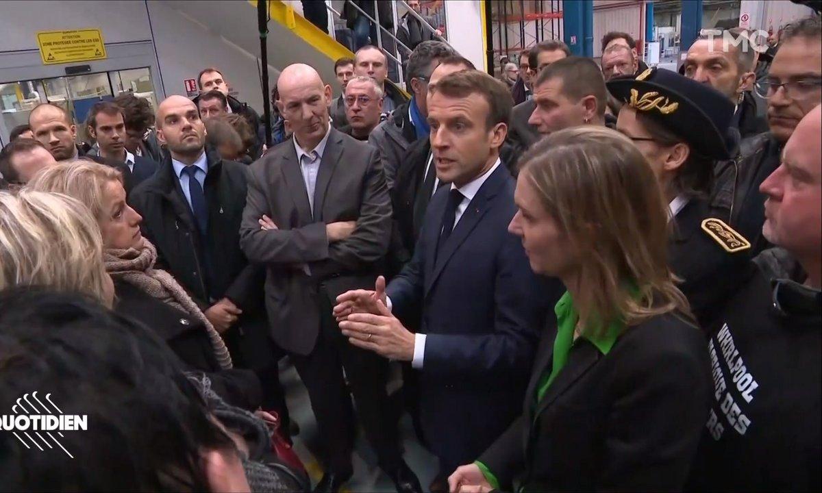 Déplacement très tendu pour Emmanuel Macron sur le site Whirlpool d'Amiens