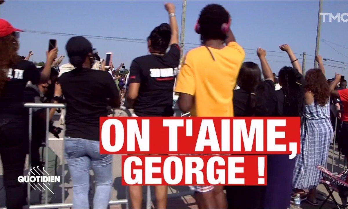 Des milliers d'anonymes escortent le cercueil de George Floyd