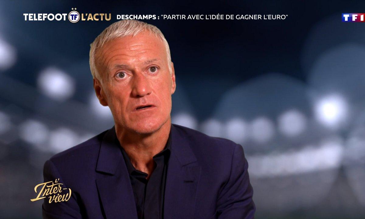 """Equipe de France - Deschamps : """"Partir avec l'idée de gagner l'Euro"""""""