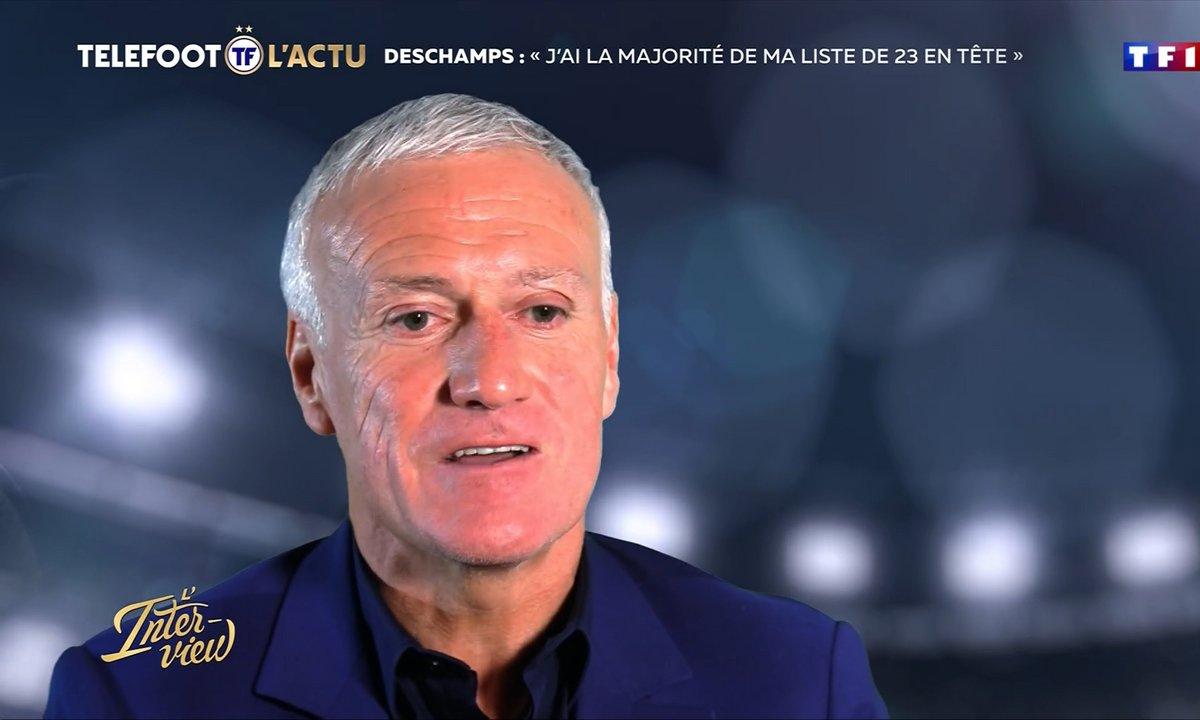 """L'Interview - Deschamps : """"J'ai la majorité de la liste de 23 en tête"""""""