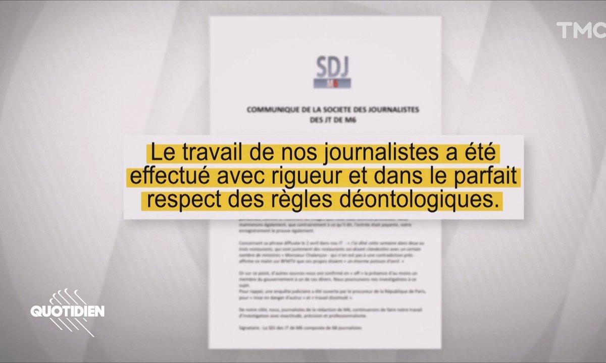 Dîners clandestins : les journalistes de M6 se défendent