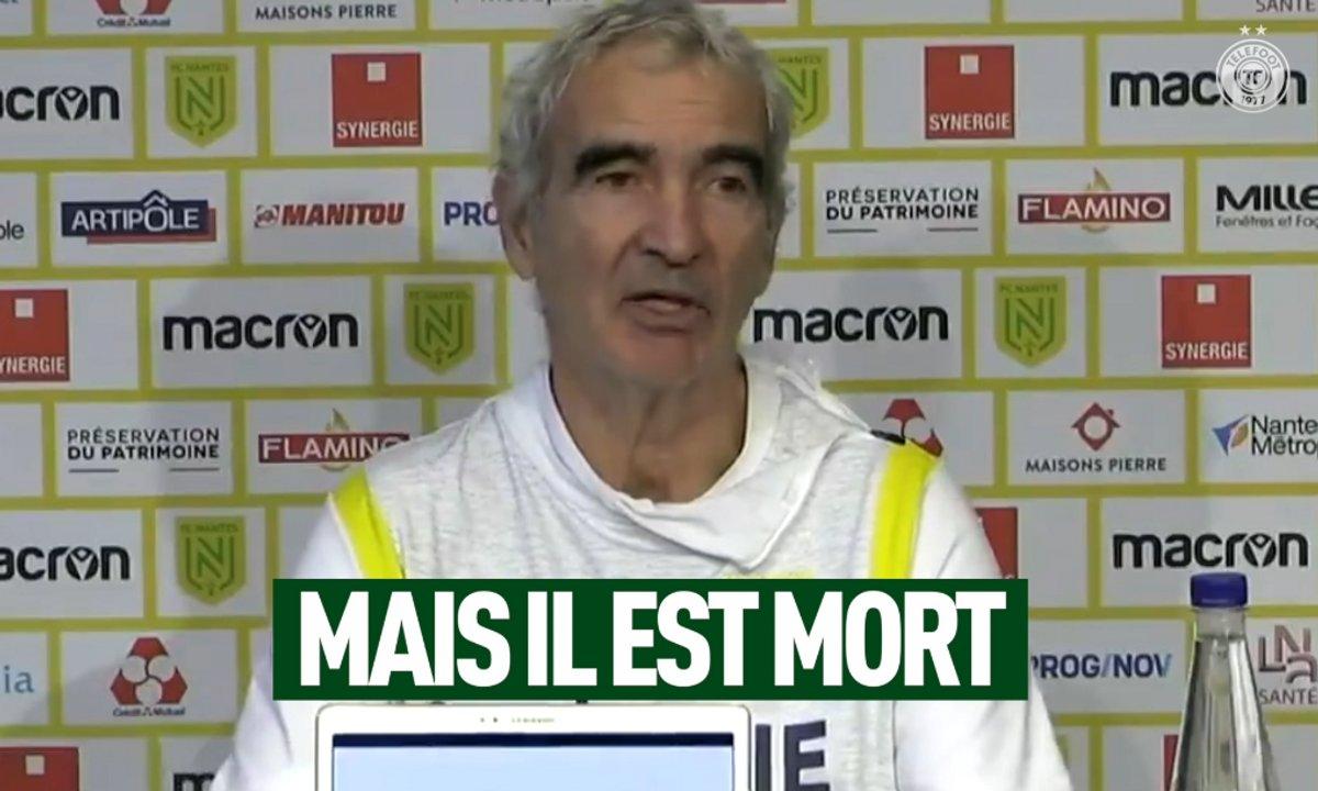 VIDEO - L'improbable sortie de Domenech en conférence de presse