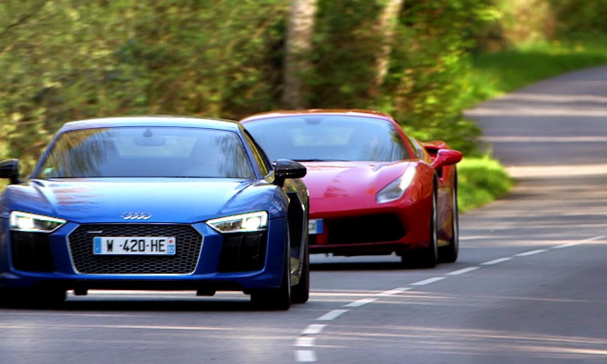Teaser : Duel Ferrari 488 GTB/Audi R8 ce dimanche 15 mai dans Automoto