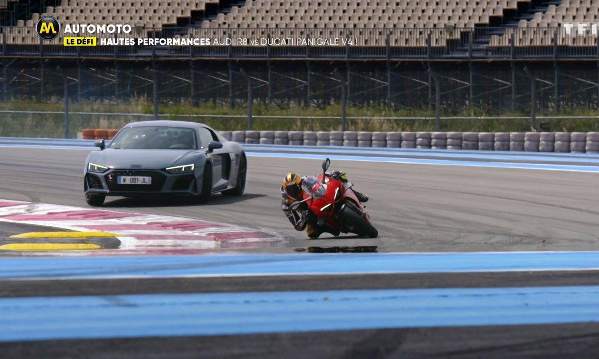 Le défi hautes performances : Audi R8 vs Ducati Panigale V4 !