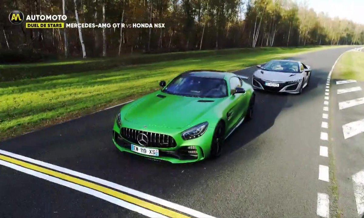 Duel de stars : Mercedes AMG GT R vs. Honda NSX