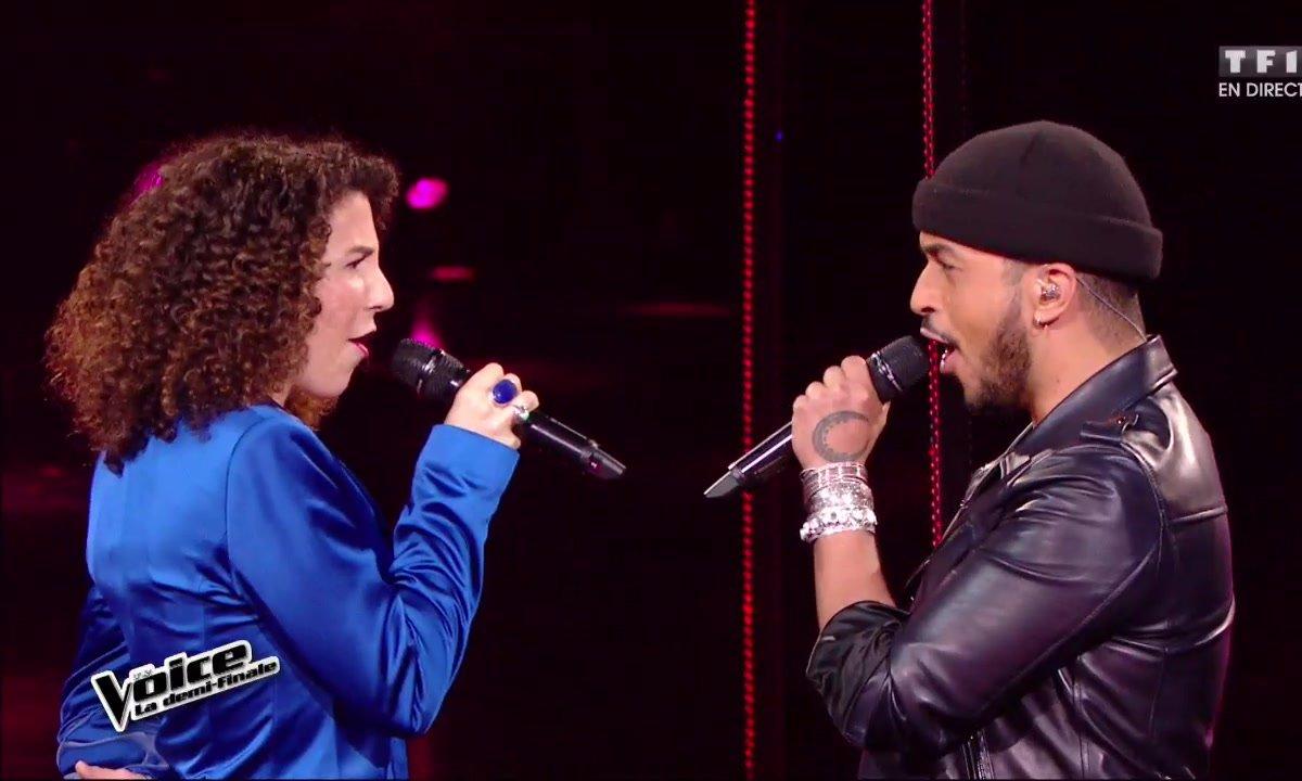 En duo, Amandine et Slimane chantent en direct « Ain't Nobody » pour la demi-finale (Saison 05)