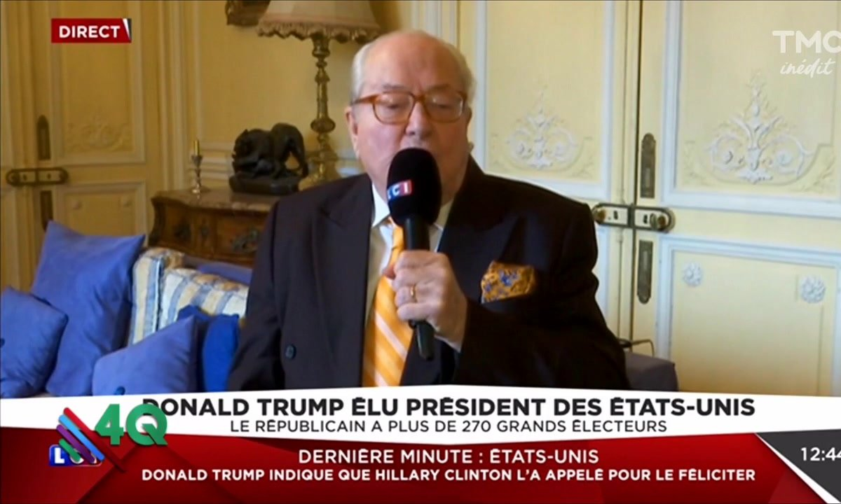 Les 4Q - Duplex difficile avec Jean-Marie Le Pen