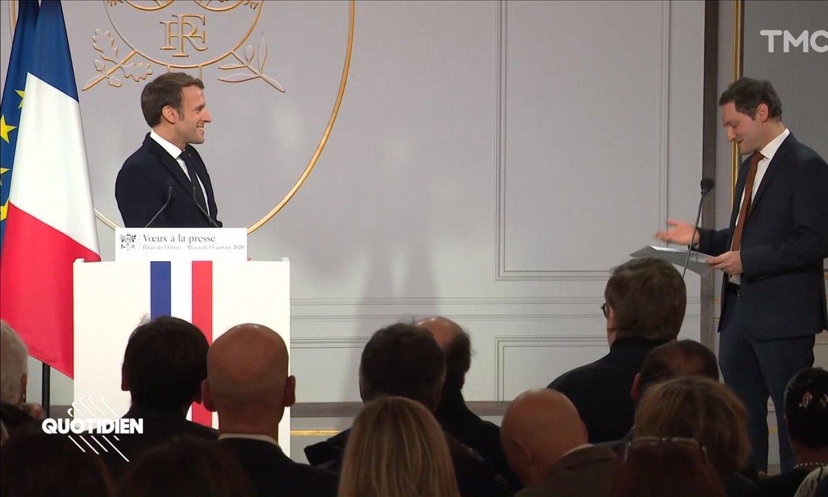 Échange glacial entre les journalistes et Emmanuel Macron aux vœux à la presse