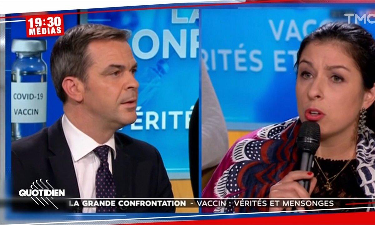 Echange tendu entre Olivier Véran et une anti-vaccin sur LCI