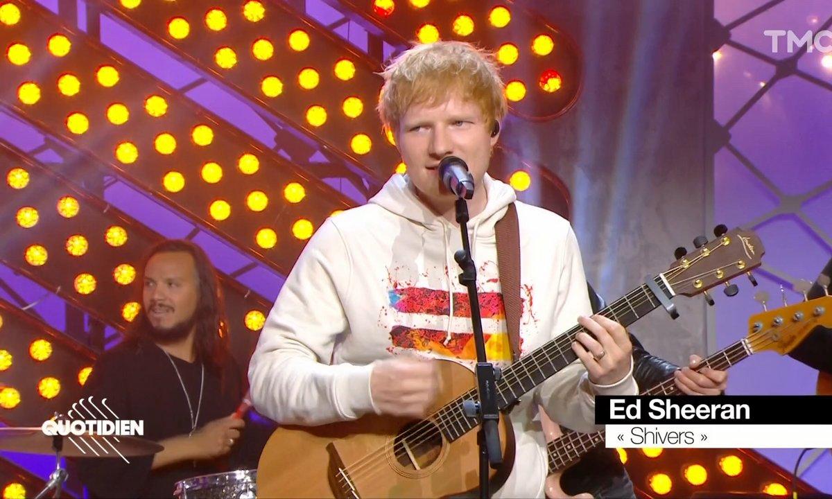 """Ed Sheeran : """"Shivers"""" en live pour Quotidien"""