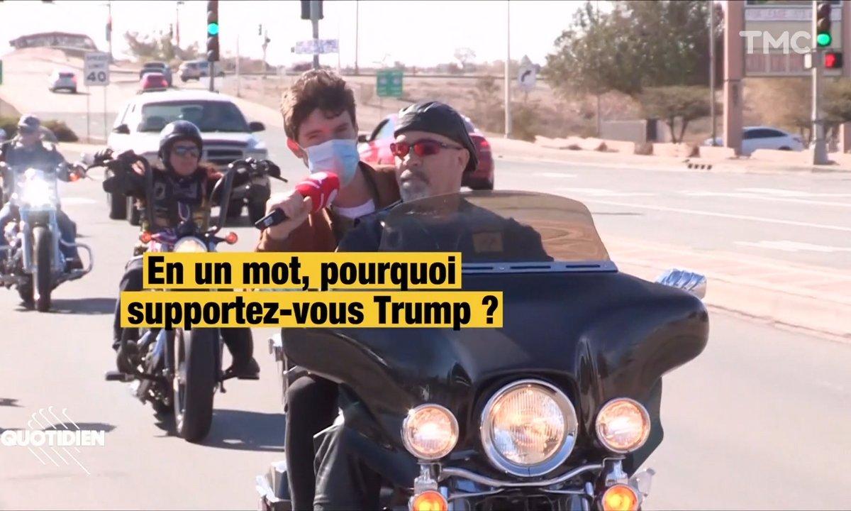 Election américaine : les bikers et les cowboys de Trump nous emmènent en balade