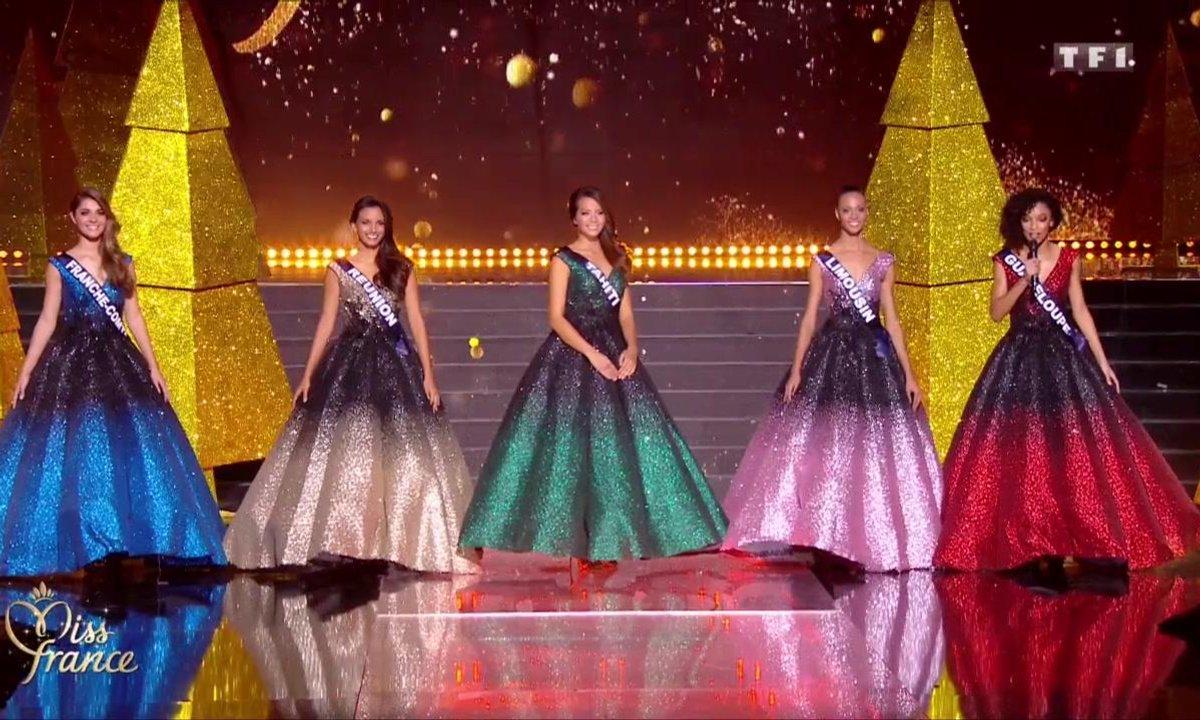 Miss France 2019 – Carte de la DERNIERE CHANCE aux 5 candidates finalistes