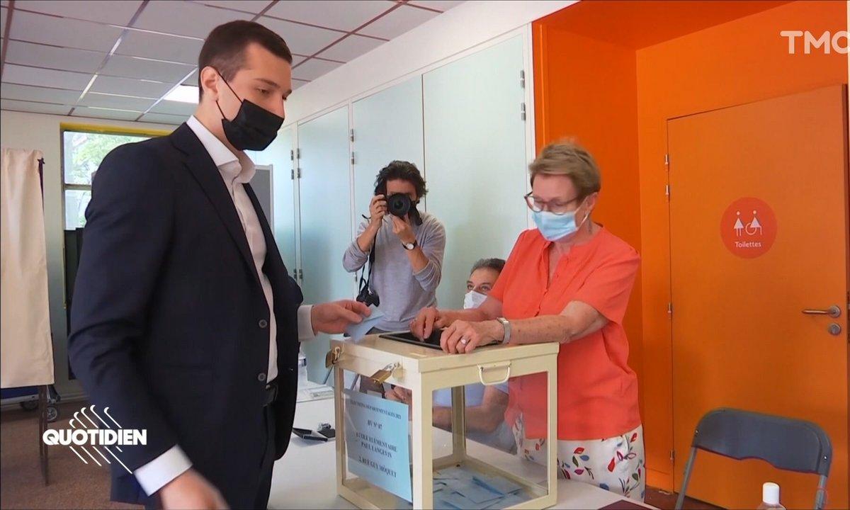 Élections régionales : grosse ambiance avec Jordan Bardella à Saint-Denis