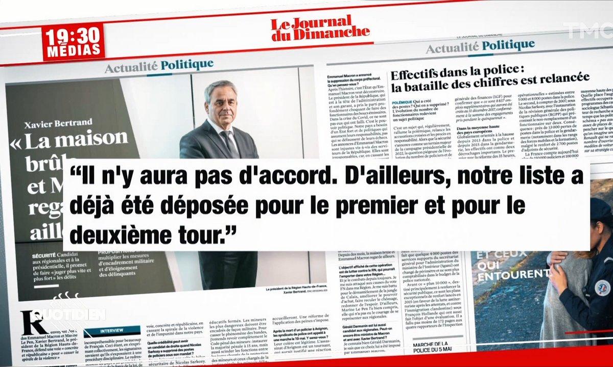Élections régionales : le mensonge de Xavier Bertrand