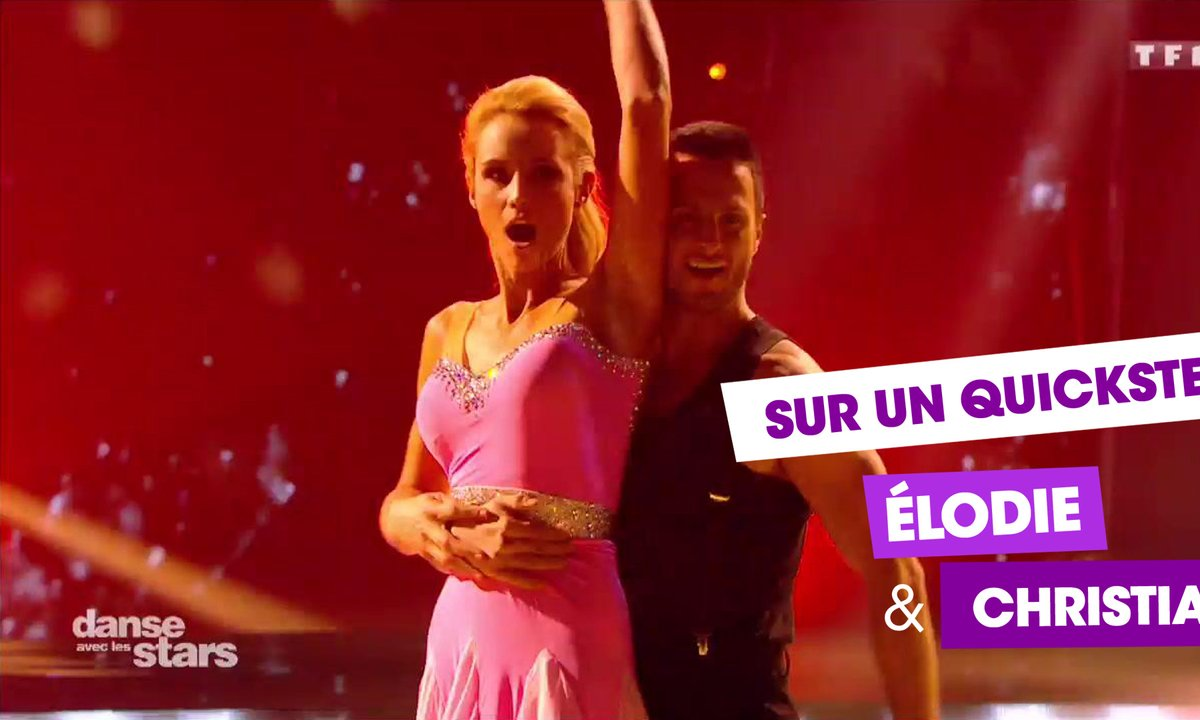 "Sur un Quickstep , Elodie Gossuin et Christian Millette (""Benny Hill"")"