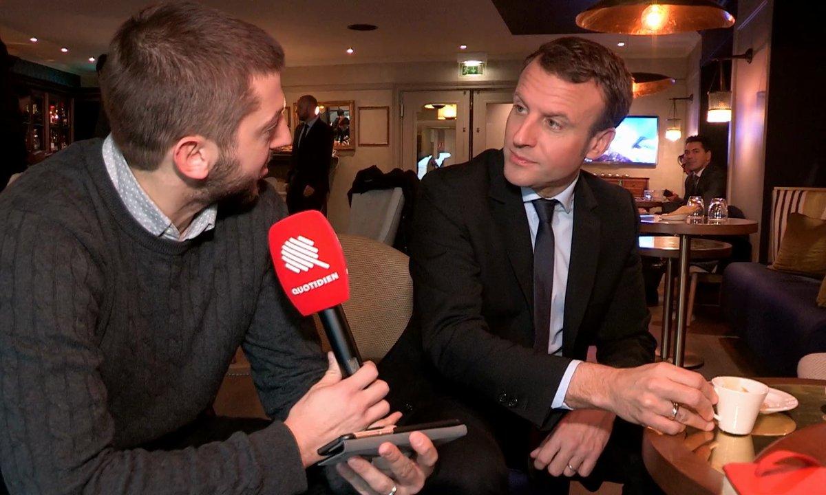 Emmanuel Macron débrief du débat de la Primaire de la Droite