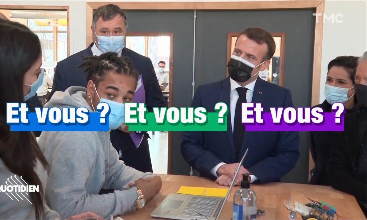 Emmanuel Macron face aux jeunes : il n'y a qu'un président pour dire ça