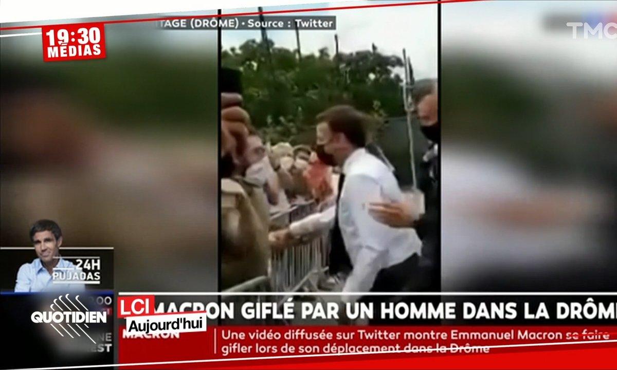 Emmanuel Macron giflé au cours d'un déplacement dans la Drôme