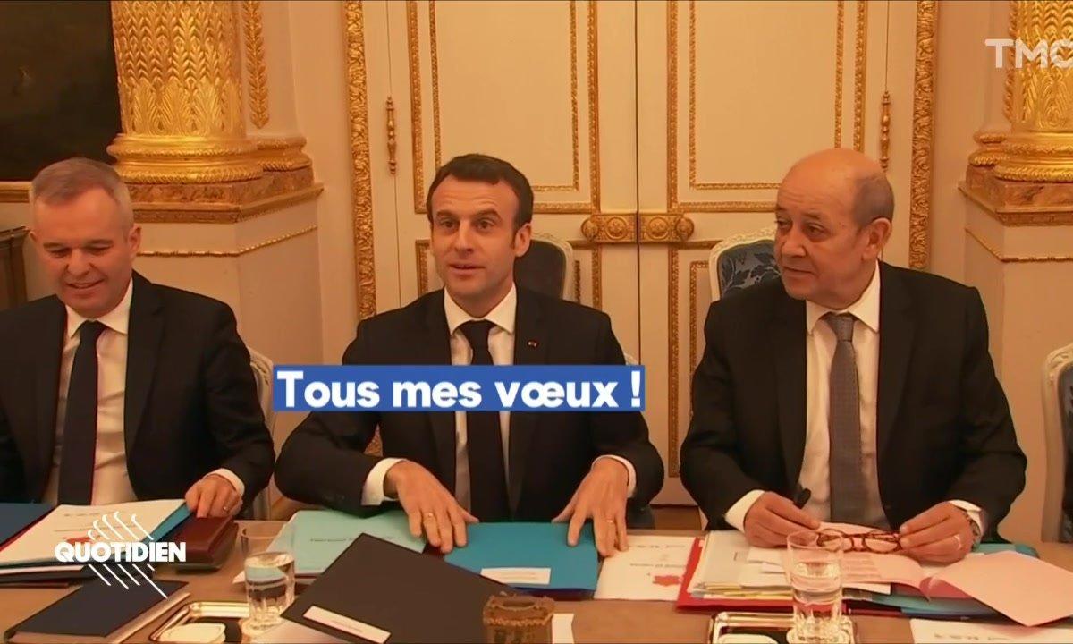 Emmanuel Macron vous présente ses voeux à la presse