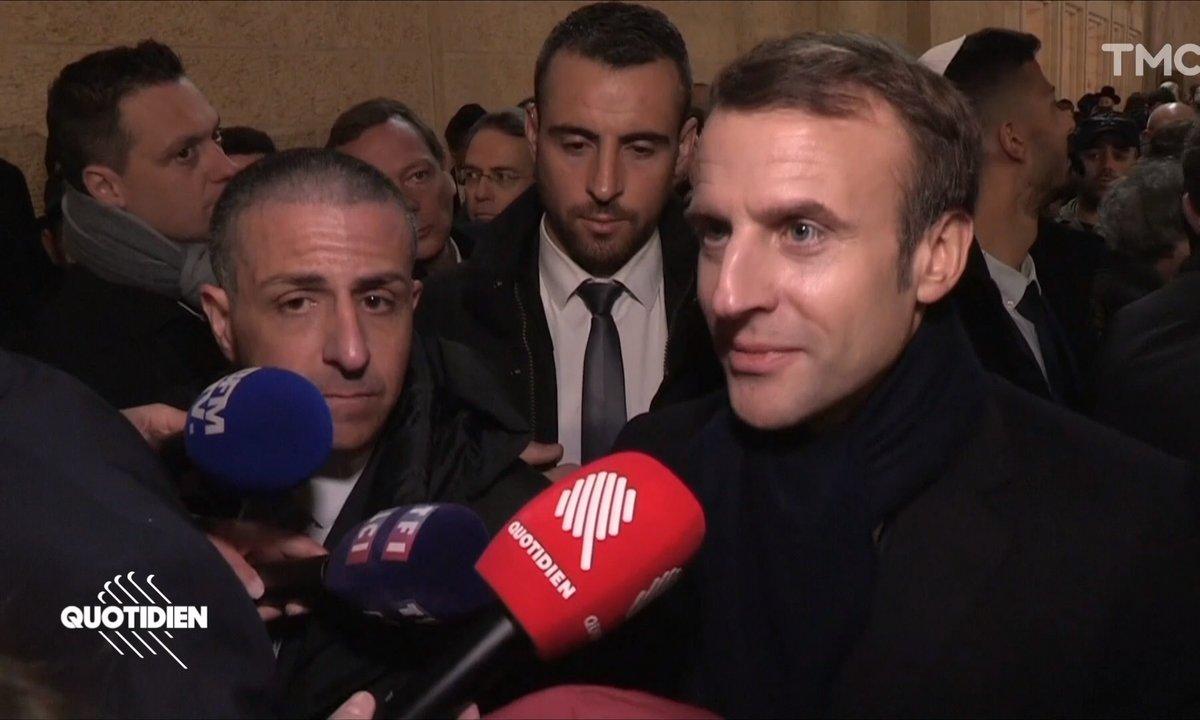 Emmanuel Macron réagit à son coup de gueule en Israël
