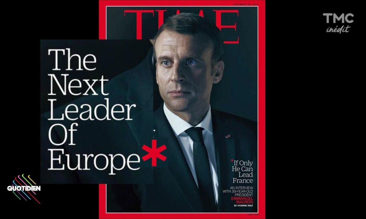 Emmanuel Macron en Une de Time Magazine