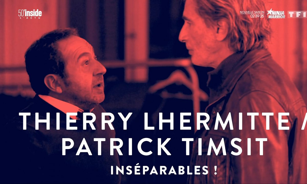 En coulisses: Thierry Lhermitte et Patrick Timsit, les inséparables