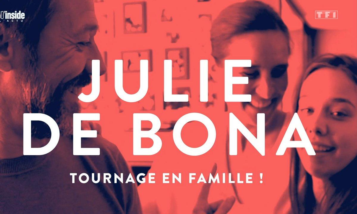 En intimité avec Julie de Bona sur son tournage en famille
