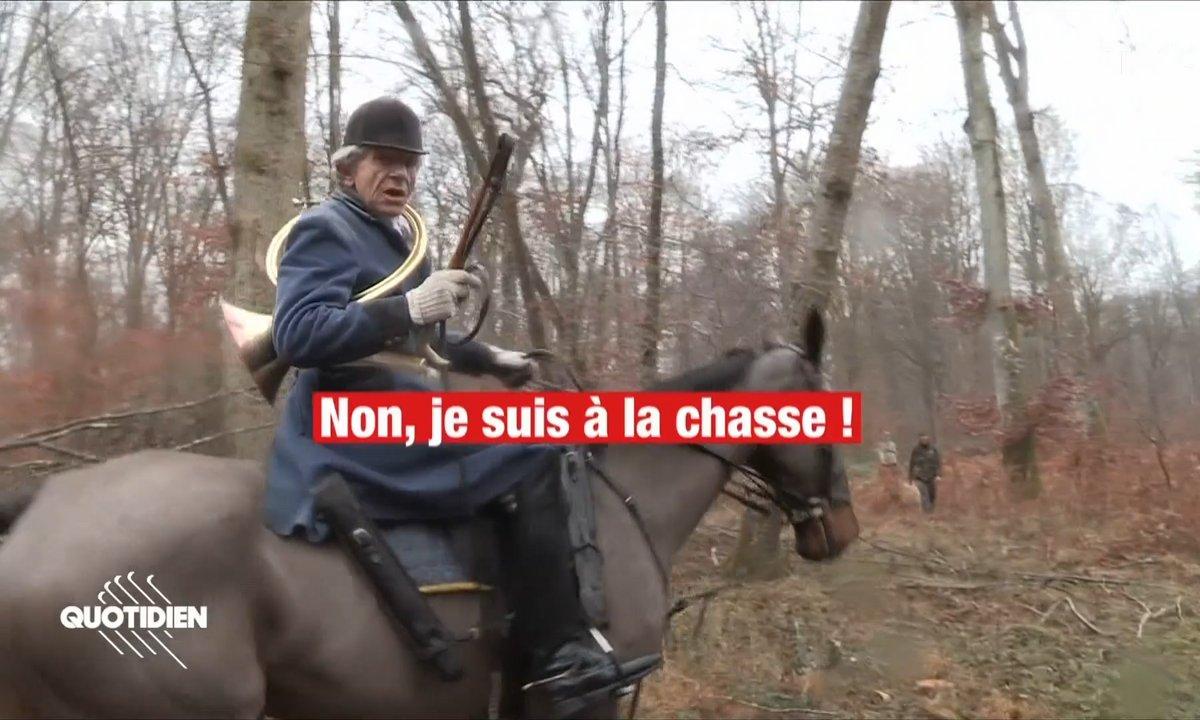 En opération avec Stanislas Broniszewski, militant anti-chasse à courre