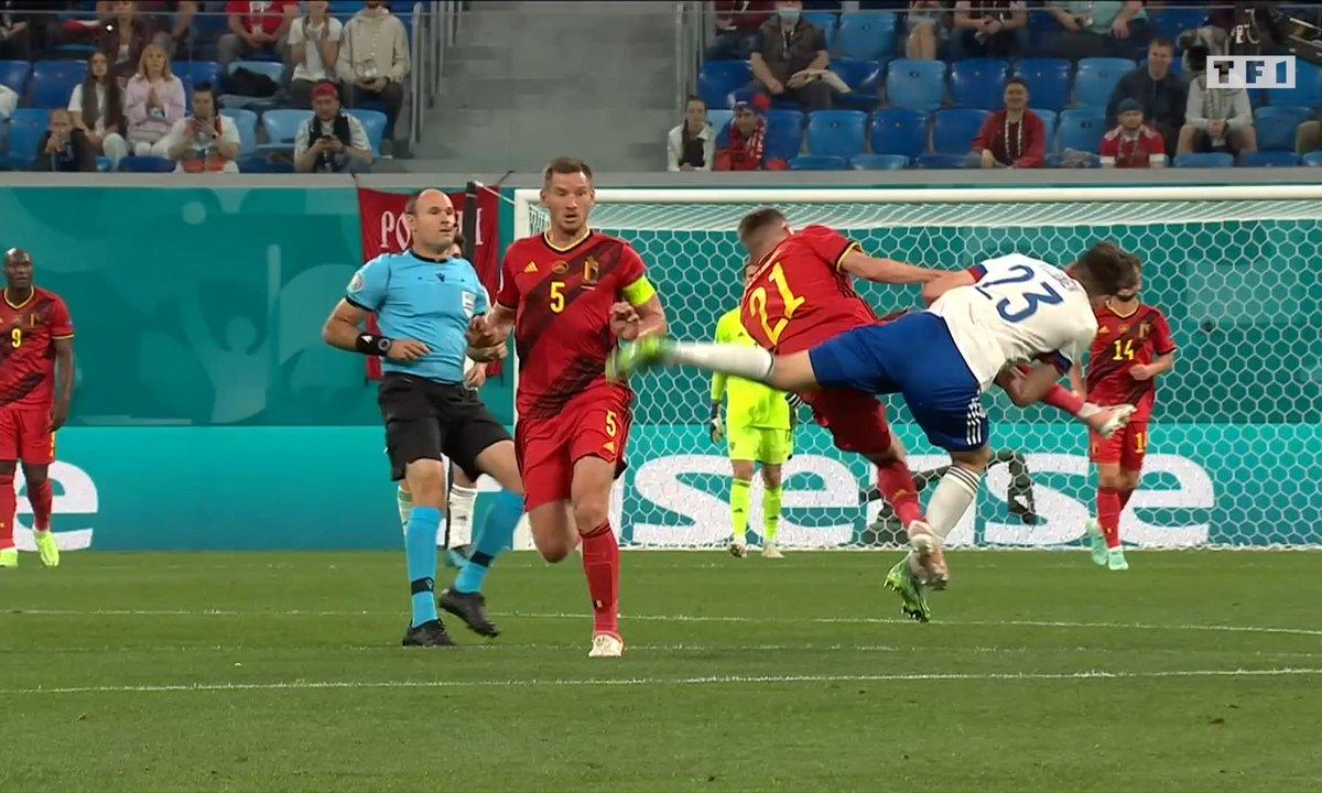 Belgique - Russie (1 - 0) : Voir l'énorme choc entre Castagne et Kuzyaev en vidéo
