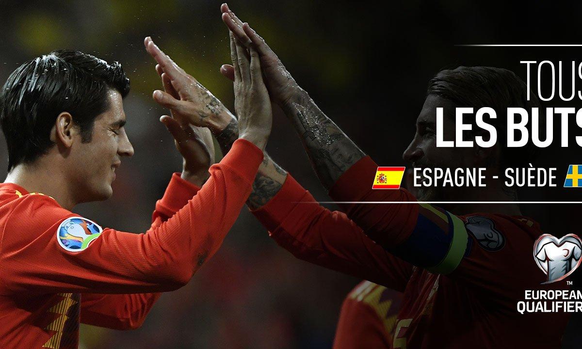Espagne - Suède : Voir tous les buts du match en vidéo