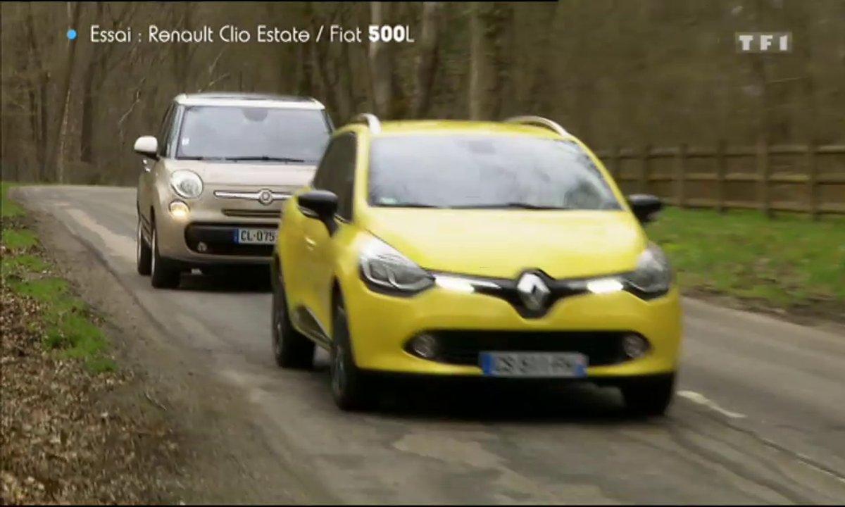 Essai : Comparatif Renault Clio Estate / FIAT 500L