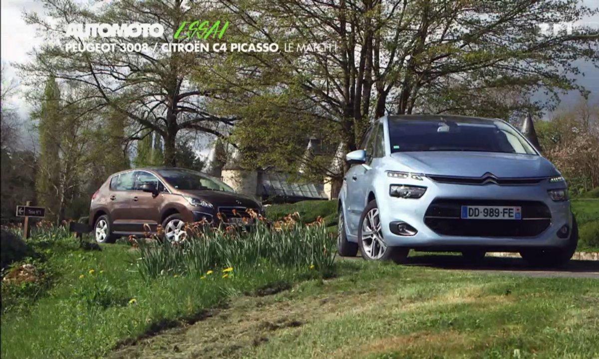 Essai Vidéo : Citroën C4 Picasso vs Peugeot 3008, duel de stars