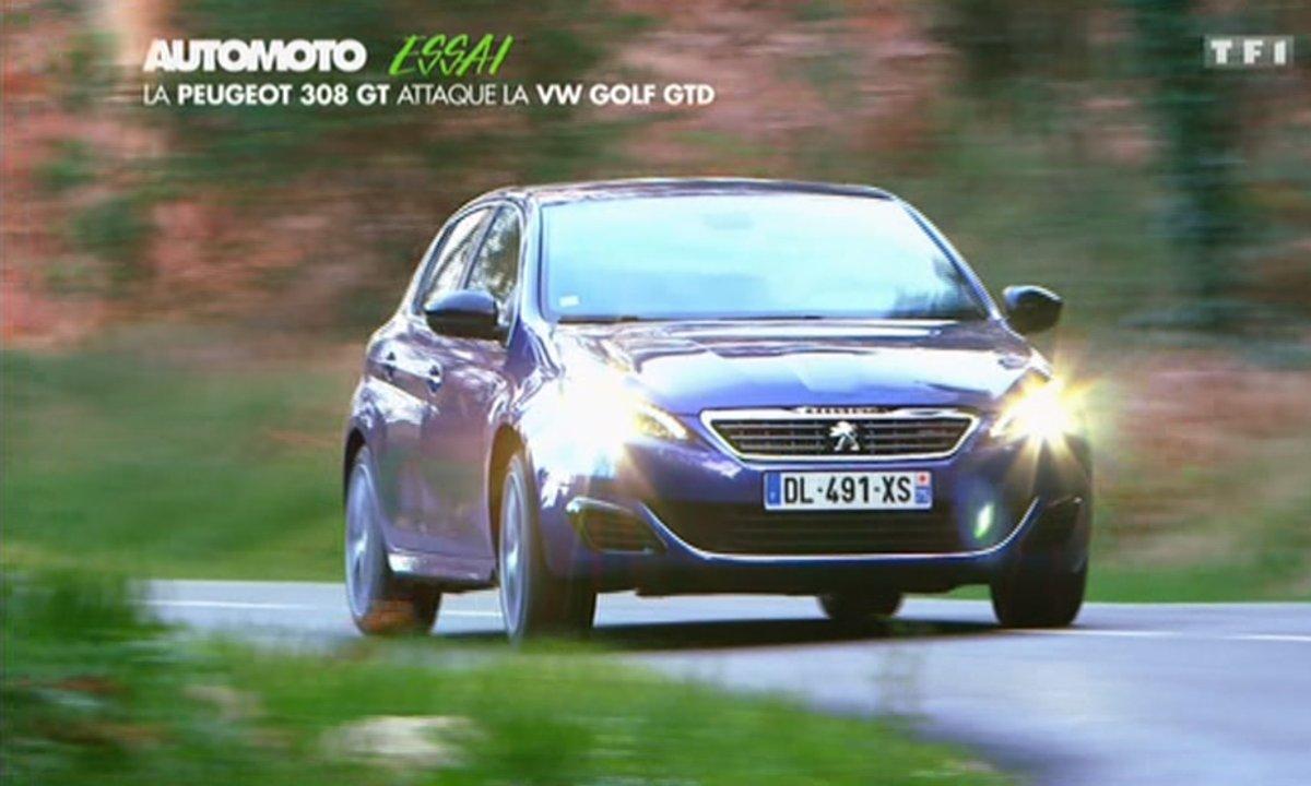 Essai Vidéo : La Peugeot 308 GT attaque la VW Golf GTD