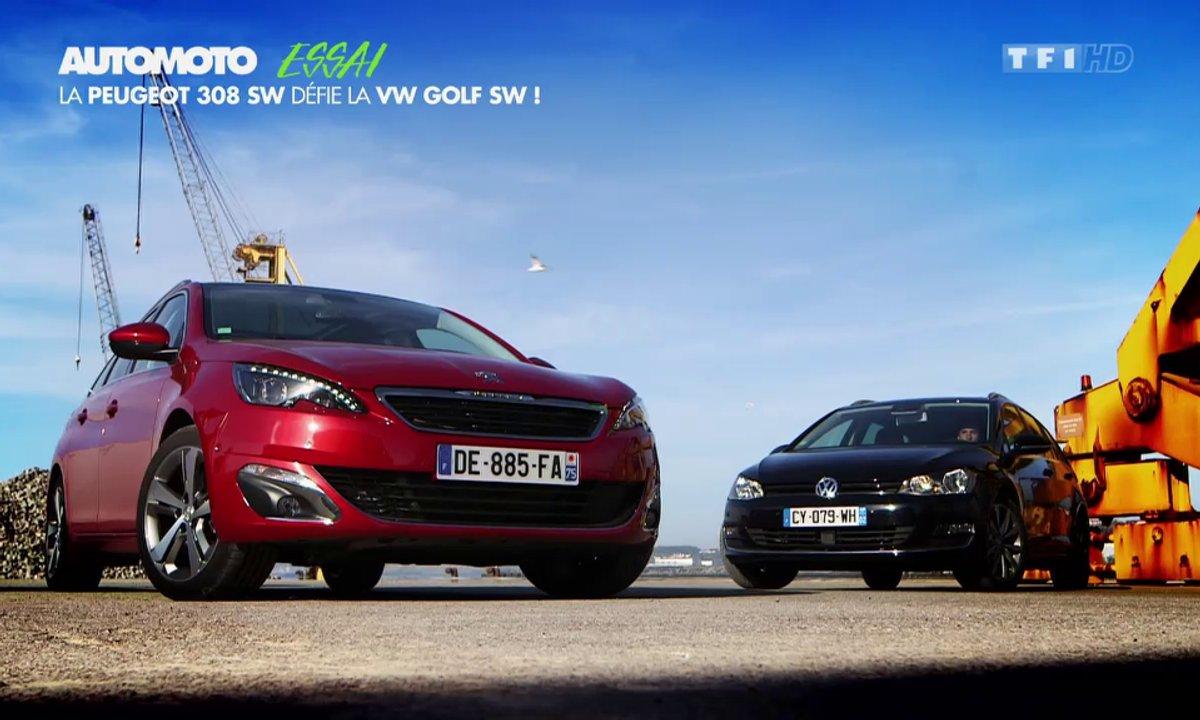 Essai Vidéo : Peugeot 308 SW contre Volkswagen Golf SW, la bataille continue !