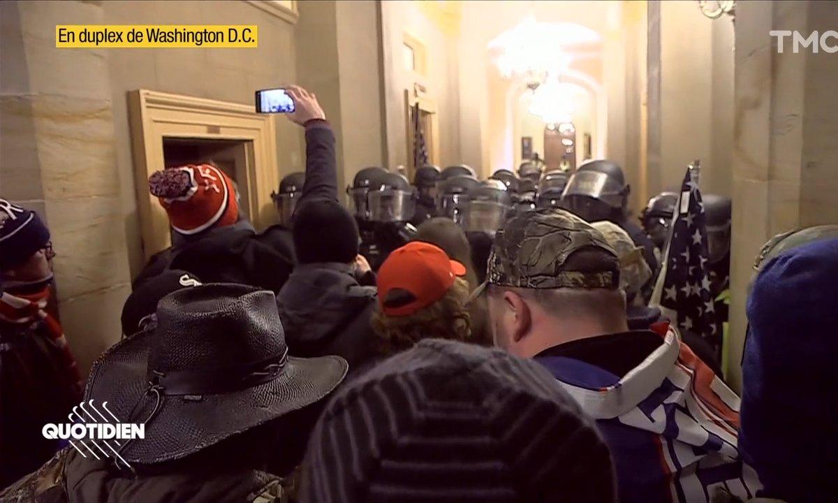 Etats-Unis: des pro-Trump envahissent le Capitole, nos images à l'intérieur du Congrès