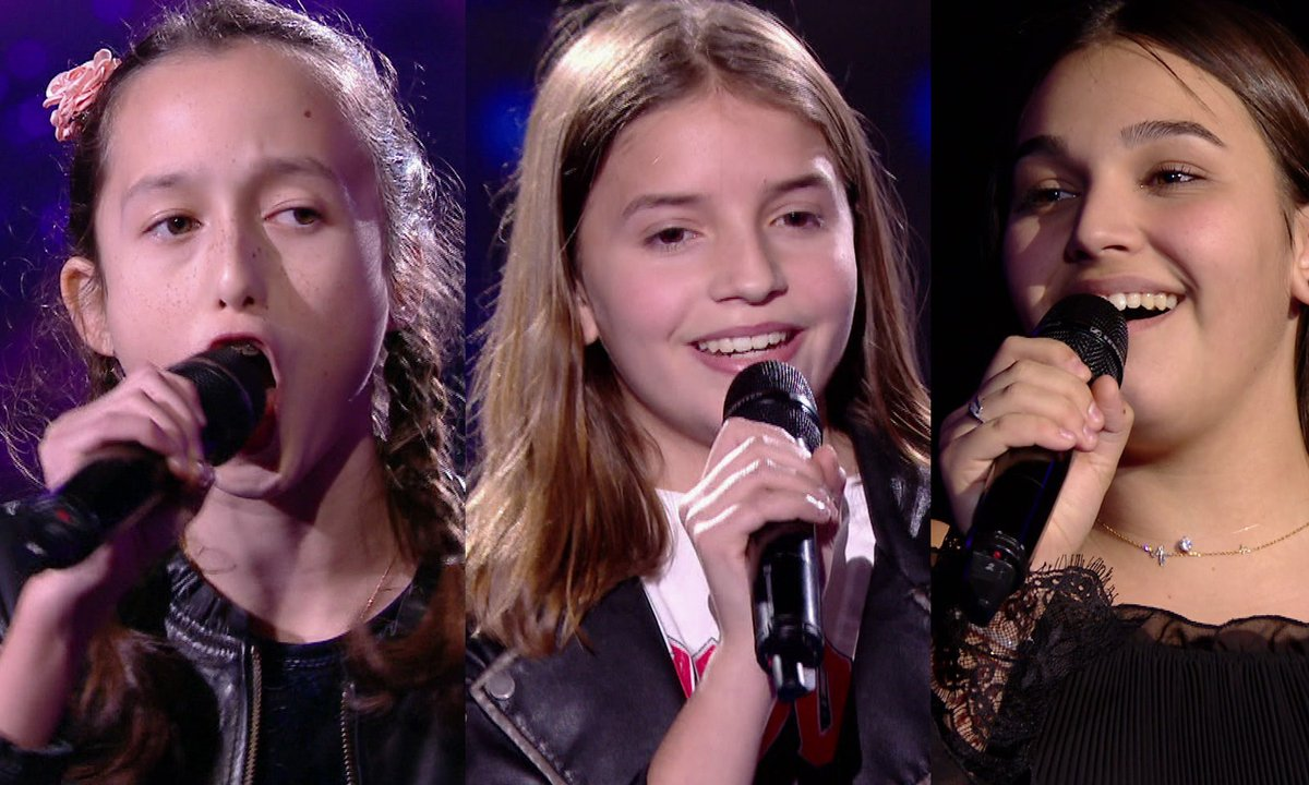 Eva VS Valéria VS Manon chantent « Flames » de David Guetta & Sia (Team Patrick Fiori)