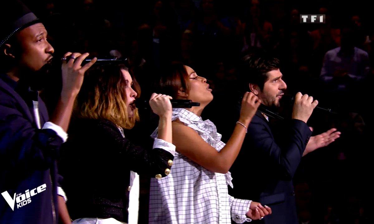 """The Voice Kids 5 - Les coachs reprennent """"L'envie"""" de Johnny Hallyday"""