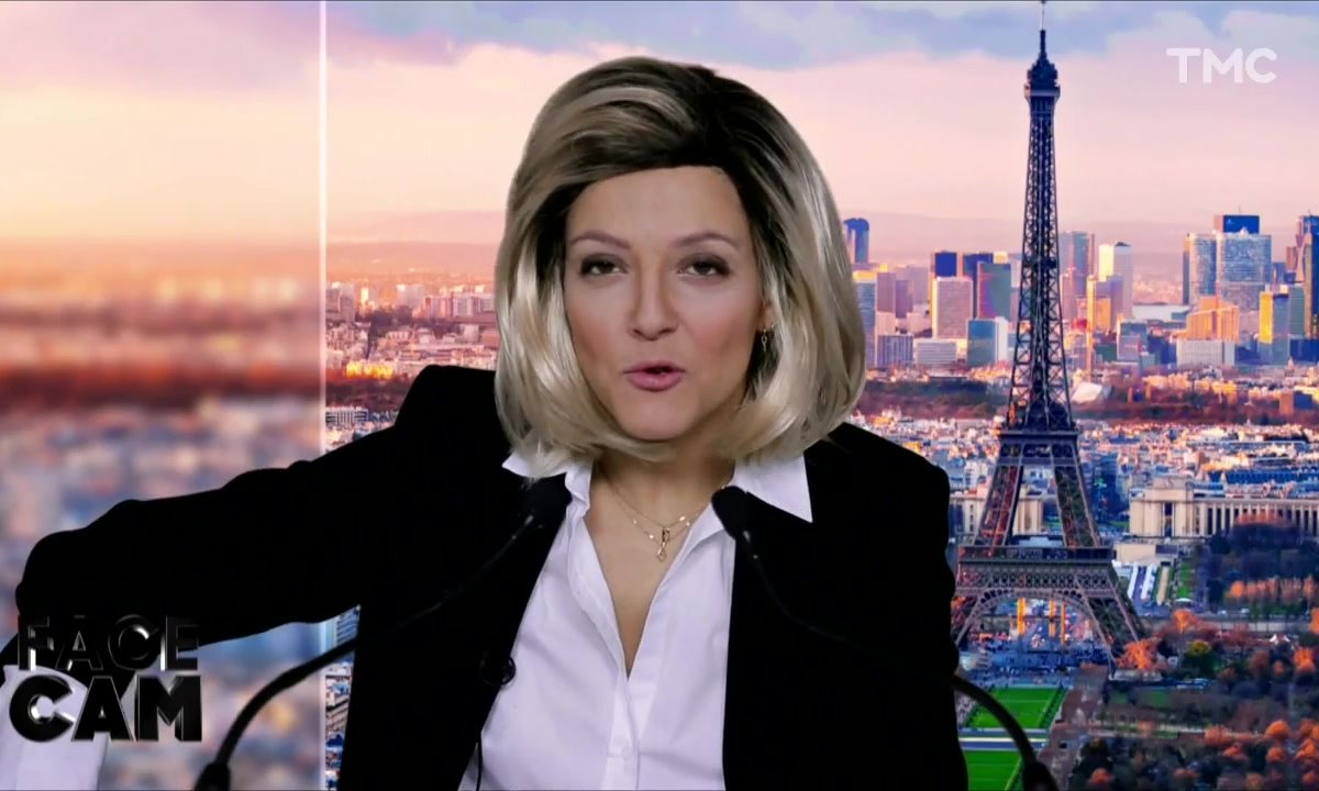 Face Cam : Camille Lellouche est Claire Chazal