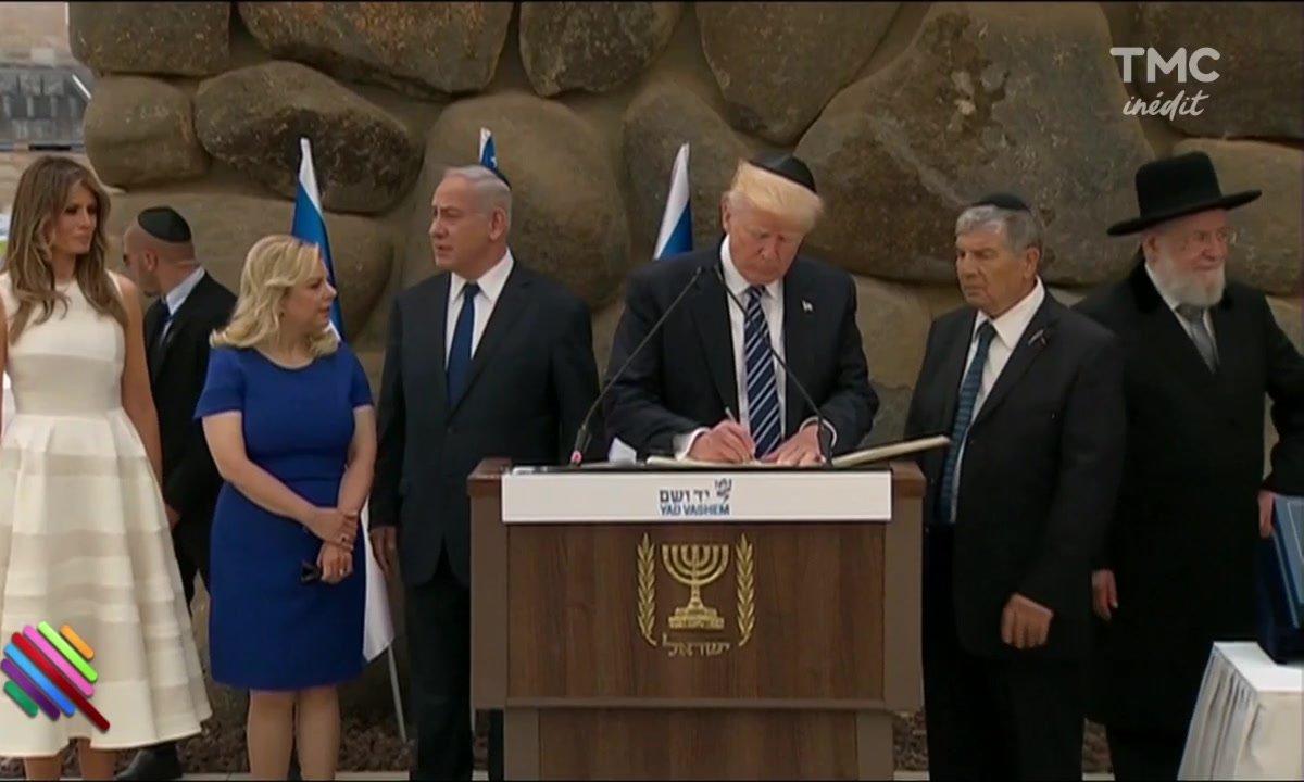 Le fait du jour : Donald Trump étale sa bêtise sur le livre d'or du mémorial de la Shoah