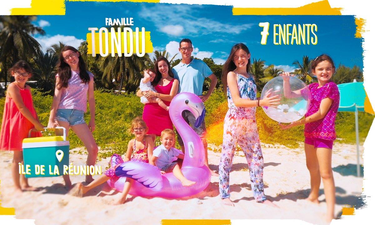 """Portrait de la famille TONDU : """"7 enfants sous les tropiques"""""""