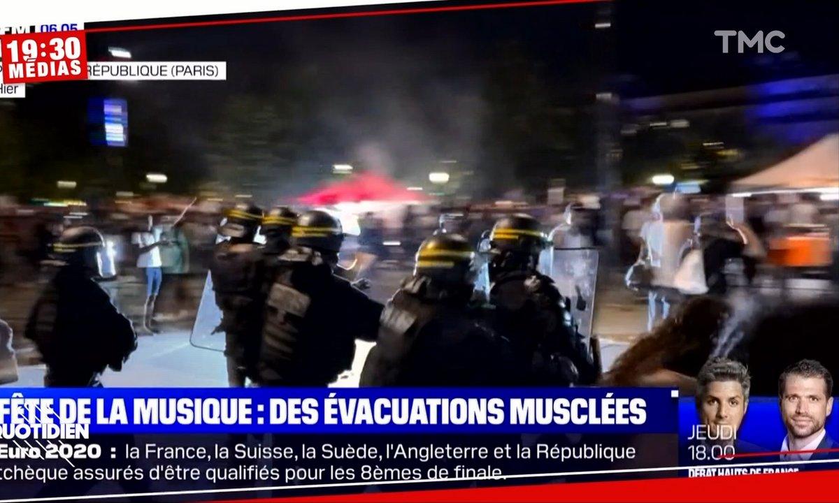 Fête de la musique : la police disperse violemment les fêtards
