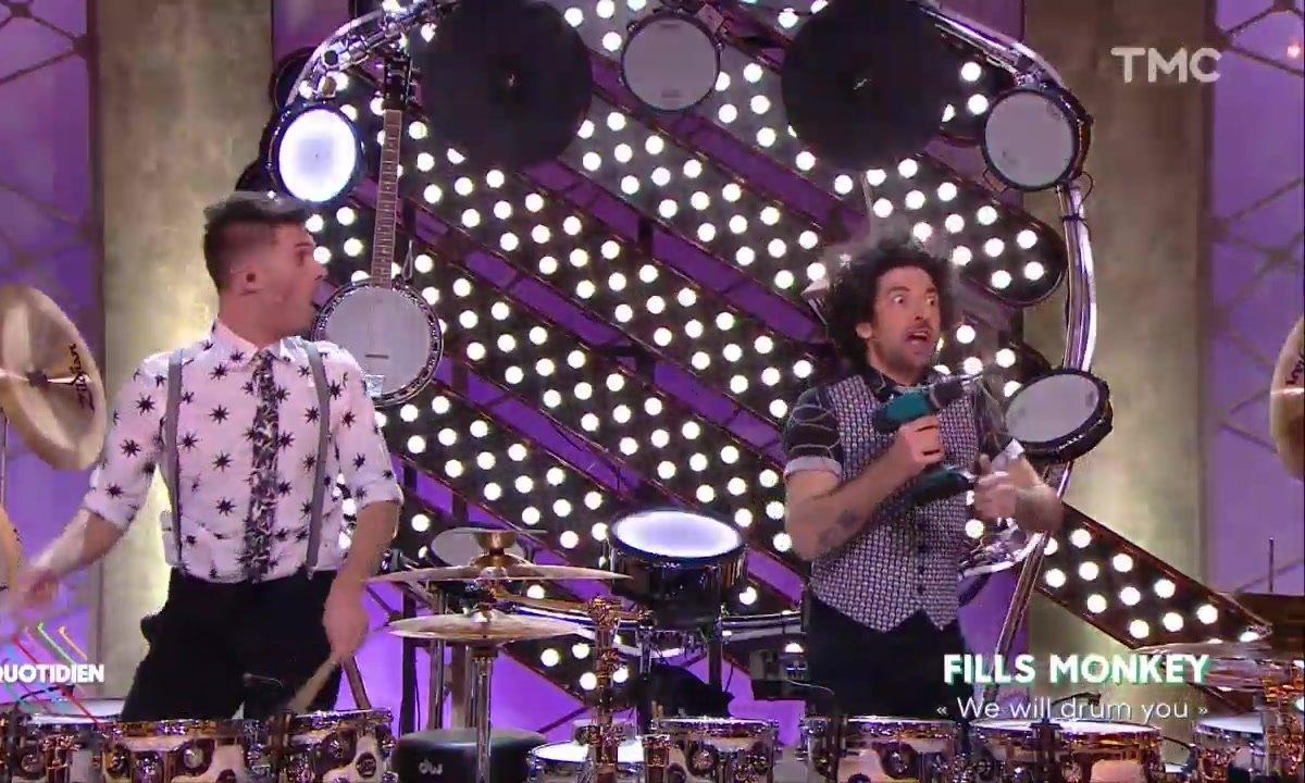 """Fills Monkey : """"We will drum you"""" en live dans Quotidien"""