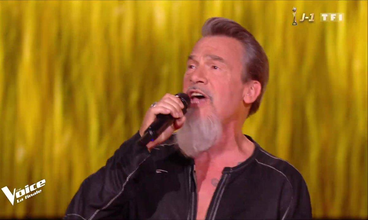 Florent Pagny « Rafale de vent » en direct pour la finale de The Voice 2019