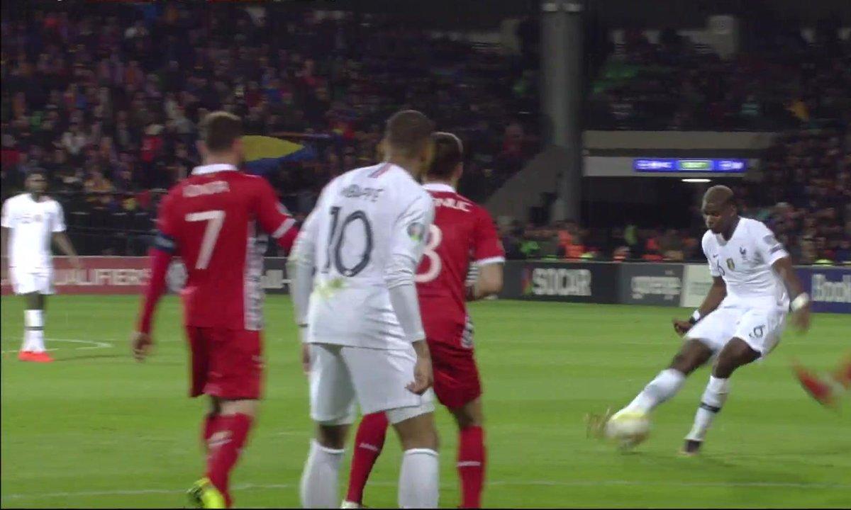Moldavie - France (0 - 3) : Voir la double occasion Pogba-Pavard  en vidéo