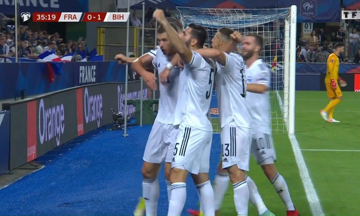 France - Bosnie (0-1) : l'ouverture du score de Dzeko