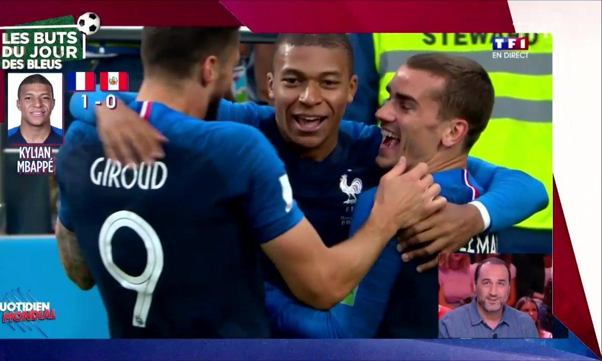 France-Pérou : revivez le but de Kylian Mbappé qui qualifie les Bleus