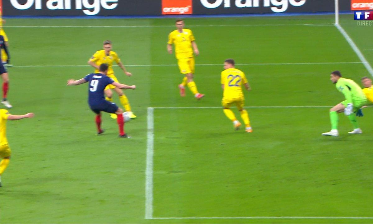 France - Ukraine (0 - 0) : Voir l'occasion d'Olivier Giroud en vidéo