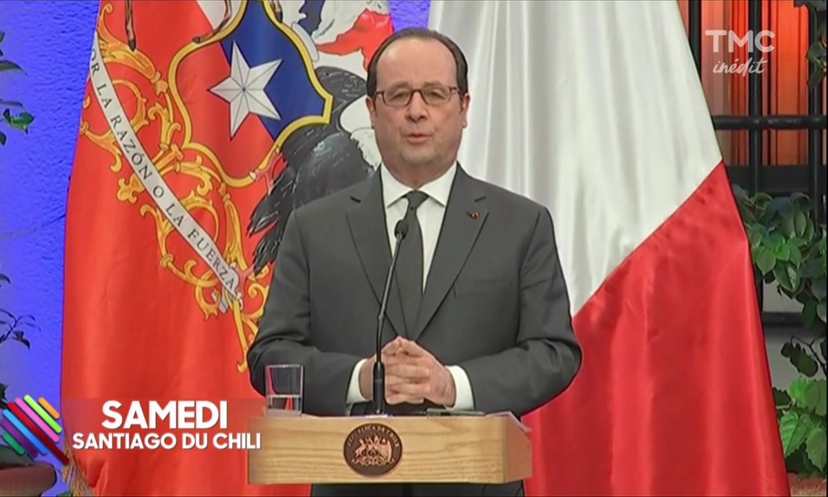 François Hollande chill au Chili